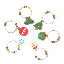 Mixed Styles Chic Christmas Wine Glass Charms Gift Table Decorations Ornament S