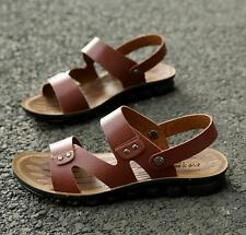 New Men's Leather Flip Flops Beach Sandals Fording Water Shoes Slippers 688