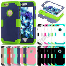 Hybrid Heavy Duty Shockproof Glossy Matte Case Cover For iPhone 5S SE 6 6S Plus