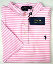 NWT $89 Polo Ralph Lauren Featherweight Mesh Shirt Mens Pink Stripe FREE SHP NEW