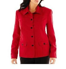 Alfred Dunner women's jacket on the red carpet faux suede solid size 8 NEW