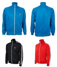Fred Perry Classic Twin Tape Zip Sweat Jacket Tracksuit Track Top Mod Retro New
