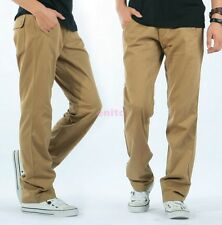 Hot Fashion Cotton Loose Fit Overalls Baggy Relaxed Mens Long Pants Trousers e23