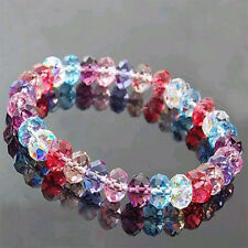 Woman's Popular Crystal Faceted Loose beads Bracelet Stretch Bangle Hot