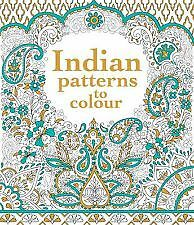 Usborne Indian Patterns To Colour Book & Pencils Adult Colouring Mindfulness