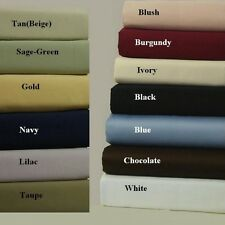 HOTEL QUALITY BEDDING 4 PC SHEET SET 1000TC EGYPTIAN COTTON FULL-XL SIZE
