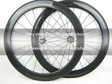 60mm deep clincher road carbon wheel,cycling wheel set 700C tubeless compatible