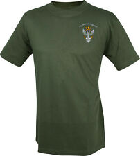 Mercian Regiment - Military T-shirt with embroidered Mercian cap badge