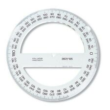 PROTRACTOR FOR TECHNICAL DRAFTING 360 180 DEGREE SCHOOL KOH-I-NOOR DRAWING NEW