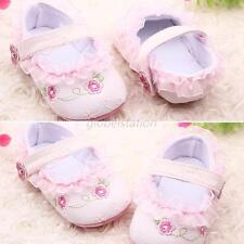 Lovely Fashion Baby Girl Floral Mary Jane Shoes Soft Buttom Strappy Crib Shoes