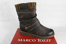 Marco Tozzi Boots, Boots, dark brown, padded, RV NEW