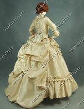 Victorian Satin Bustle 5PC Queen Dress Ball Gown Theater Halloween Costume 330