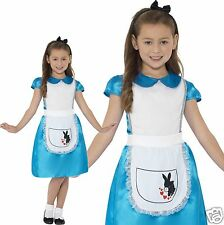 Girls Fairytale Storybook Alice In Wonderland Fancy Dress Costume Smiffy's 4-9