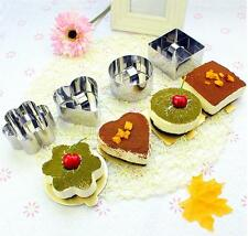 New Heart  Round Stainless Steel Cake Mold Cookies Cutter DIY Decorating Mould
