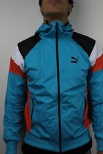 Puma Mens Seasonal Wind Jacket Bluebird Tigerlily Black TL23217 NWT