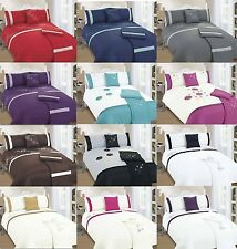 Luxury 5 Piece Bed in a Bag Duvet Quilt Cover Bedding Set Double King UK Size