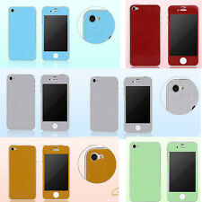 Colors Full Body Screen Protector Case Cover Film Skin For Apple iPhone 5 5S