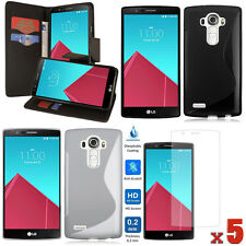 LOT 8 ACCESSORIES Wallet PU Case + TPU Case + Screen Protector For LG G3/ LG G4