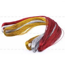 100 Meter 1mm Shimmery Cord Thread String Jewelry Craft Card Braid Multi-purpose