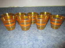 VINTAGE CULVER LTD DOUBLE OLD FASHIONED SUBURBAN GLASSES SET OF 8