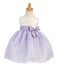 Lilac Baby Toddler Flower Girl Dress Pageant Wedding Birthday Easter Formal M702