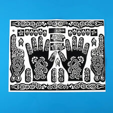 DIY Tattoo Body Art Henna Mehndi Stencils Indian Wedding Stickers Hand Feet Nail