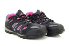 Grafters Ladies Pink/Grey '986' Safety Toe Cap Trainer Shoes