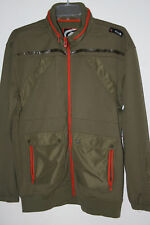 Ecko Unltd Men's Counterattack Track Sweater Hoodie Olive NWT