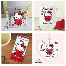Personalised Hello Kitty Love You Valentines Engagement Gift Mug Candle Diary