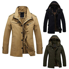 Warm Jackets Parka Outerwear Fur lined thicken Long Coat Hooded PK