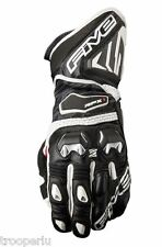 FIVE GLOVES RFX1 2016 RACING MOTORCYCLE GLOVES GFR006 BLK/WHT MADE with KEVLAR