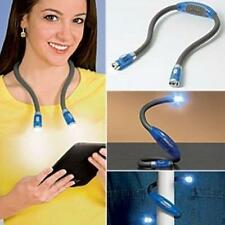 Flexible Adjustable 4 LED Hug light Neck Book Night Lamp Torch for Study Reading