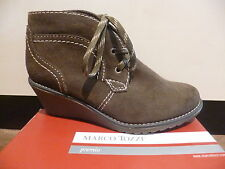 Marco Tozzi Women's Boots Ankle boots Lace up boots, Leather, olive new