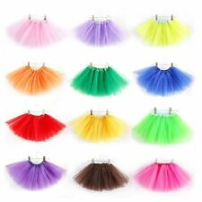 Girls Kids Tutu Skirt Party Ballet Dance Wear 3 Layer Dress Pettiskirt Costume