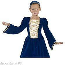 Girls Kids Tudor Medieval Princess Maid World Book Day Fancy Dress Costume 4-12