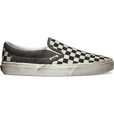Vans Classic Unisex Footwear Slip Ons - Overwashed Black Check All Sizes