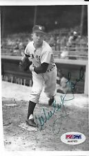 Whitey Ford Signed Yankees Baseball 3.75x6 Photo PSA/DNA COA Picture Autograph