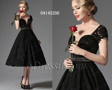 eDressit Hot Black Lace Vintage Prom Party Evening Dress Formal Gown