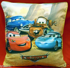 "PILLOW & RACING CAR DISNEY DESIGN PILLOW SHEET TWO SIDE PRINT KIDS 16"" X 17"""