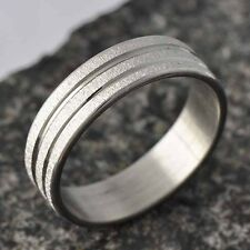 Carved Gold Filled,stainless steel Band Promise Love Band Ring Size 7-11