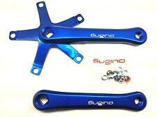 SUGINO 75 Track Alloy Crankset Blue 144 BCD Single Speed ISO | NEW IN BOX