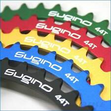 Sugino 130mm X 44T 130J Alloy Chainring 1/2 X 1/8 Track Fixed Gear Red/Gold/Blue