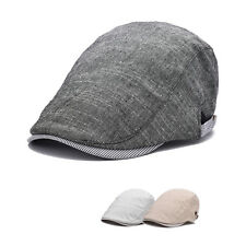 Men 85%Cotton Flat Cabbie Newsboy Gatsby Hat Beret Cap Ivy Golf Driving Hat