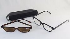 2 Pair Reading Glasses w/Leather Case & Cleaning Cloths ~ Strength 1.5 or 3.0