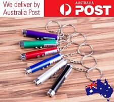 LASER POINTER KEYRING - LED LIGHT TORCH - VARIOUS COLOURS - BATTERIES INCLUDED