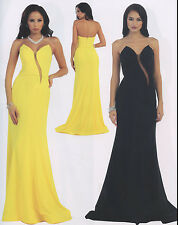 SEXY LOW BACK BRIDESMAIDS COCKTAIL DRESS  EVENING FORMAL GOWN CHIFFON  4-14 NEW