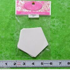 SUE DALEY - ENGLISH PAPER PIECING - PENTAGON - 50 x PRE-CUT PAPERS - Patchwork
