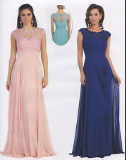 Elegant Dress Pageant Cocktail Mother Of Bride/Groom Formal Gown Chiffon 6~20