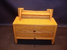 Antique 1920s Dollhouse Miniature Wooden Bureau Chest Made in Germany as found