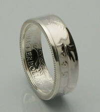 Coin Ring *Top Quality* 90% Silver Quarter Heads Double Sided - Proof 1992-1998